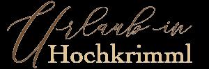 Urlaub in Hochkrimml Logo